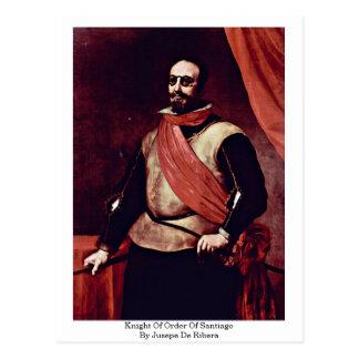 Jusepe De Ribera著サンティアゴの順序の騎士 ポストカード