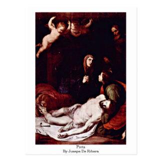 Jusepe De Ribera著ピエタ ポストカード