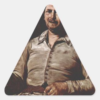 Jusepe de Ribera著好みのアレゴリー 三角形シール