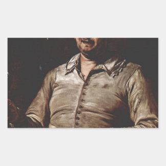 Jusepe de Ribera著好みのアレゴリー 長方形シール
