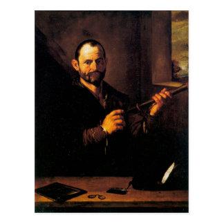 Jusepe de Ribera著視力のアレゴリー ポストカード