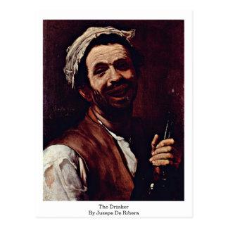 Jusepe De Ribera著酒飲み ポストカード