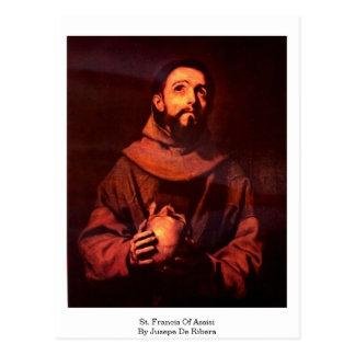 Jusepe De Ribera著AssisiのSt Francis ポストカード