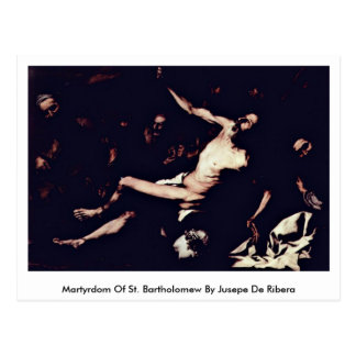 Jusepe De Ribera著St Bartholomewの殉教 ポストカード