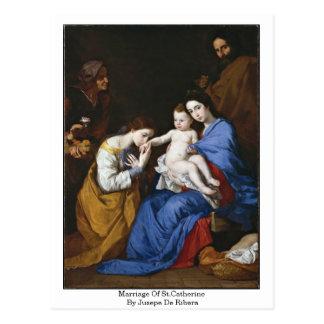 Jusepe De Ribera著St.Catherineの結婚 ポストカード
