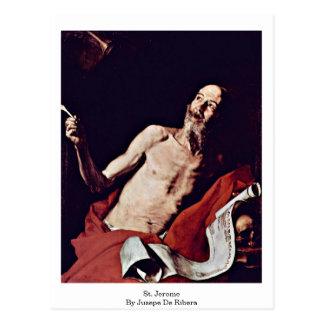 Jusepe De Ribera著St Jerome ポストカード