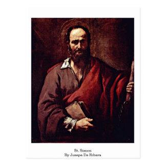 Jusepe De Ribera著St Simon ポストカード