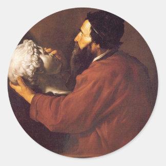Jusepe de Ribera著Touchのアレゴリー ラウンドシール