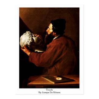 Jusepe De Ribera著Touch ポストカード