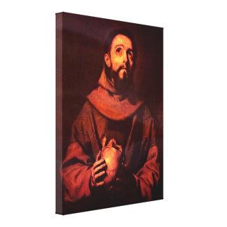 Jusepe de Ribera - AssisiのSt. Francis キャンバスプリント