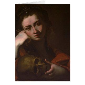 Jusepe Ribera著悔悟者Magdalen (Vanitas) カード
