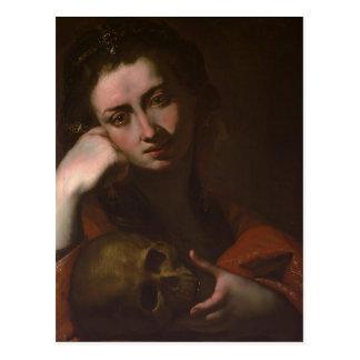 Jusepe Ribera著悔悟者Magdalen (Vanitas) ポストカード