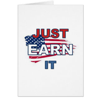 Just_Earn_It_Flag カード