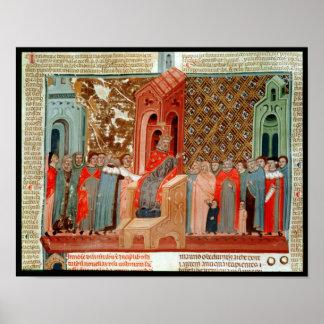 Justinian皇帝および彼の裁判所 ポスター