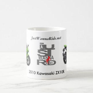 JustWannaRide川崎私の2010年のZX10Rのマグ コーヒーマグカップ