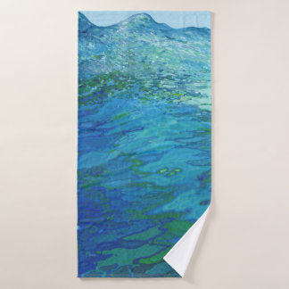 Juul著海の海洋波のBathタオルで バスタオル
