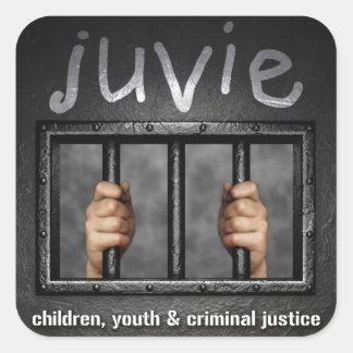 juvieのロゴのステッカーの正方形 スクエアシール