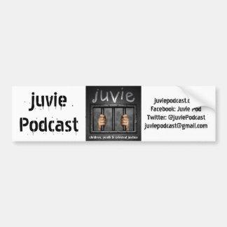 juvieのロゴのバンパーステッカー バンパーステッカー