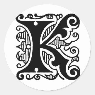 Kのデザイン ラウンドシール