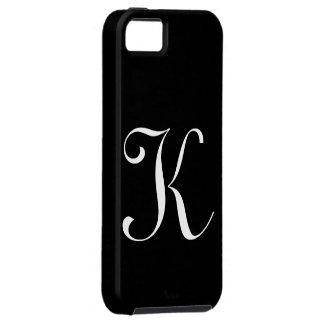 Kのモノグラムの黒のIPhone 5の場合 iPhone SE/5/5s ケース