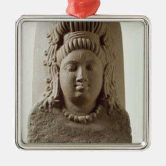 Kの寺院からのEkamukha Siva-Lingaの姿 メタルオーナメント