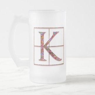 """Kの""""ケルト族の煉瓦""""カスタムなモノグラムのマグ フロストグラスビールジョッキ"""