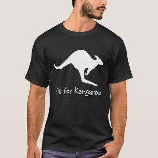 Kはカンガルーのためです Tシャツ