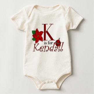 KはKendellのベビーの初めてのクリスマスのティーのためです ベビーボディスーツ
