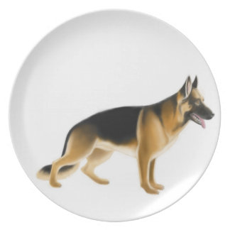 K9ジャーマン・シェパードの警察犬のプレート プレート