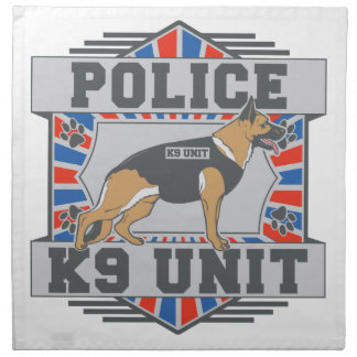 K9単位の警察のジャーマン・シェパード ナプキンクロス