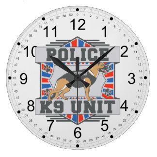 K9単位の警察のジャーマン・シェパード ラージ壁時計