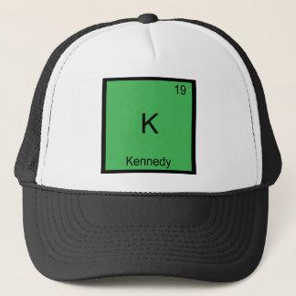 K -ケネディおもしろいな化学要素の記号のTシャツ キャップ
