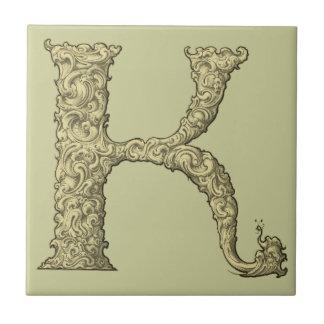 K - Falckのアルファベット(金 タイル