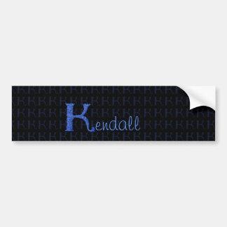 K - Falckのアルファベット(青い) バンパーステッカー