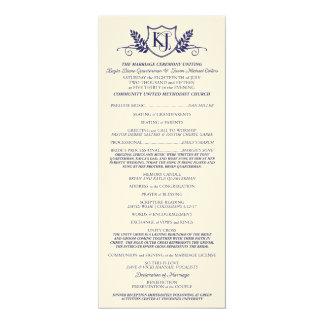K&Jの結婚式プログラム カード