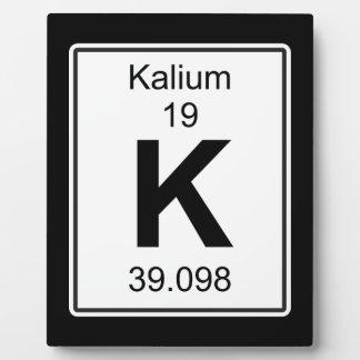 K - Kalium フォトプラーク