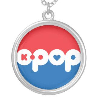 K-POP 01 シルバープレートネックレス