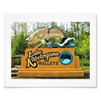 Kabetogama湖のWalleyeのコダック写真の紙 フォトプリント