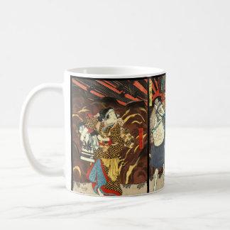 Kabuki俳優のトリプティク1848年 コーヒーマグカップ