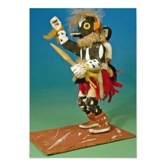 Kachinaの人形、ネイティブアメリカン カード