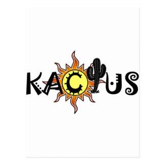 Kactusの主要なロゴ ポストカード
