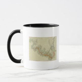 Kaibabのプラトーの合成の地質地図 マグカップ