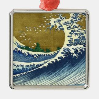 Kaijo富士Hokusaiの波の神奈川の最高傑作無し メタルオーナメント