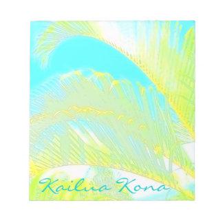 Kailua Konaハワイのやしメモ帳 ノートパッド