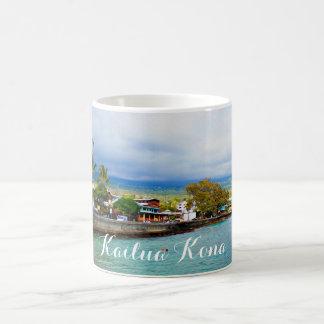 Kailua Kona桟橋のハワイの油性ペイントのデジタル芸術 コーヒーマグカップ