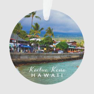 Kailua Kona桟橋のハワイ2の写真及び文字 オーナメント