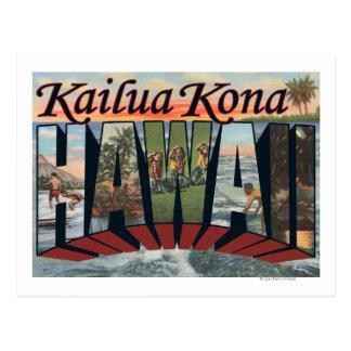 Kailua Kona、ハワイ-大きい手紙場面 ポストカード