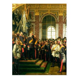 Kaiserとしてウィルヘルムの布告 ポストカード
