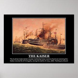 Kaiserのオーストリアの木はLissaの戦いを出荷します ポスター