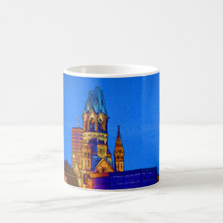 Kaiserウィルヘルムの記念教会、ベルリン、Illu コーヒーマグカップ